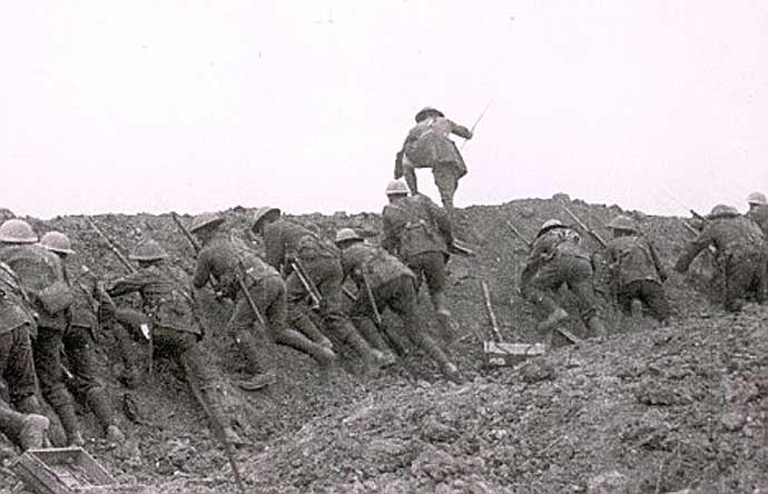 Over the top at The Somme