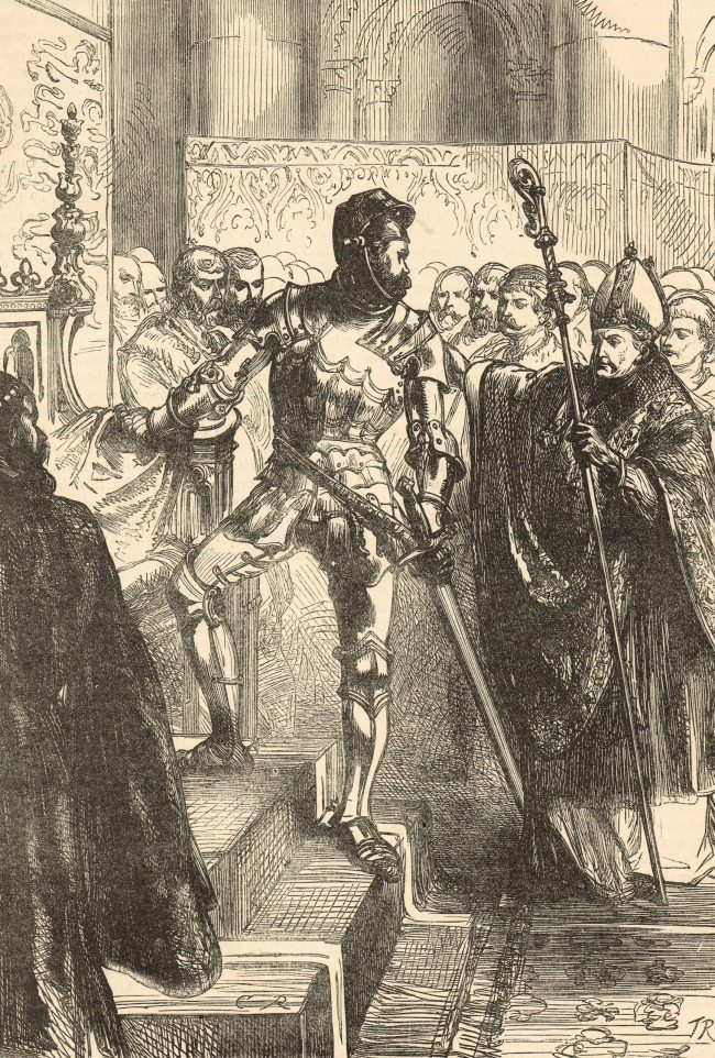 Richard of York, claiming the throne of England, 7 October 1460. Image shot 1896. Exact date unknown.
