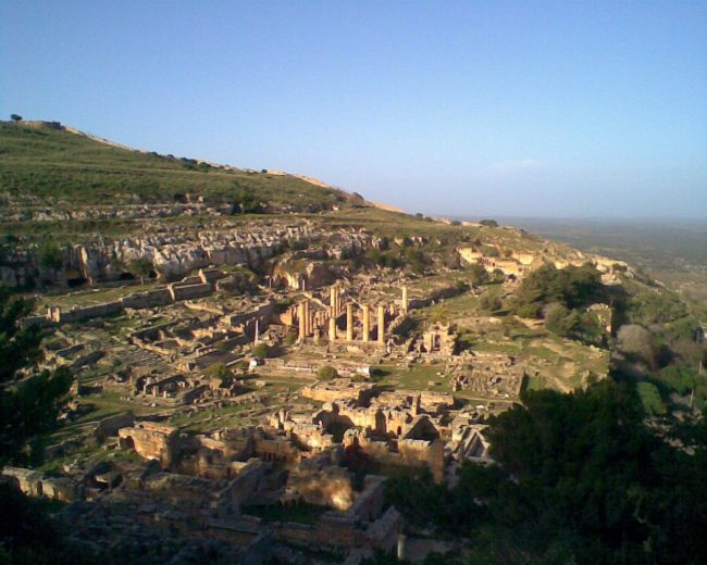 The ruins of Cyrene today