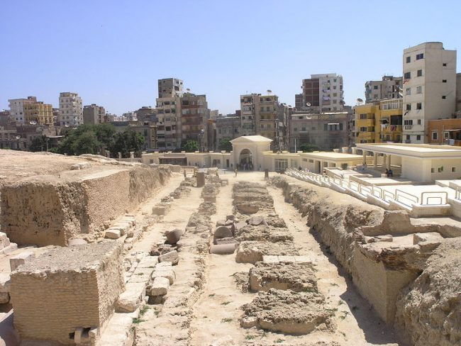 Remains of the Serapeum of Alexandria