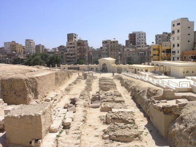 Remains of the Serapeum of Alexandria