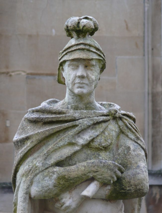 Statue of Suetonius Paulinus at the Roman Baths