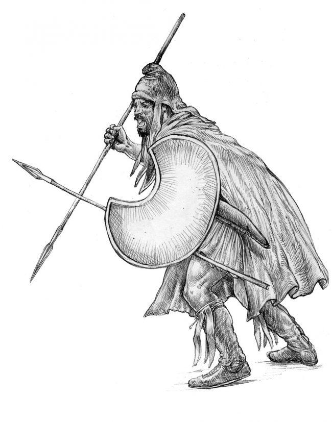 Thracian peltast.