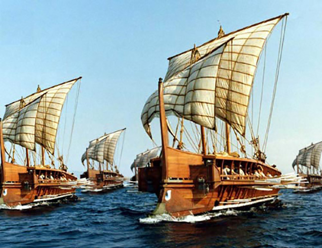 Greek triremes