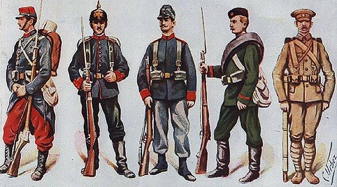 uniforms-start-of-world-war-one