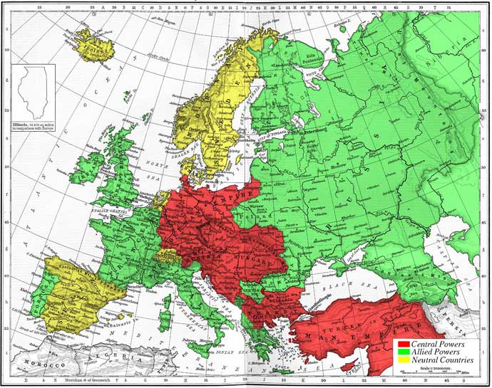 European Alliance System - 1914