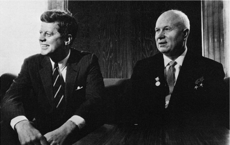 Kennedy and Khrushchev
