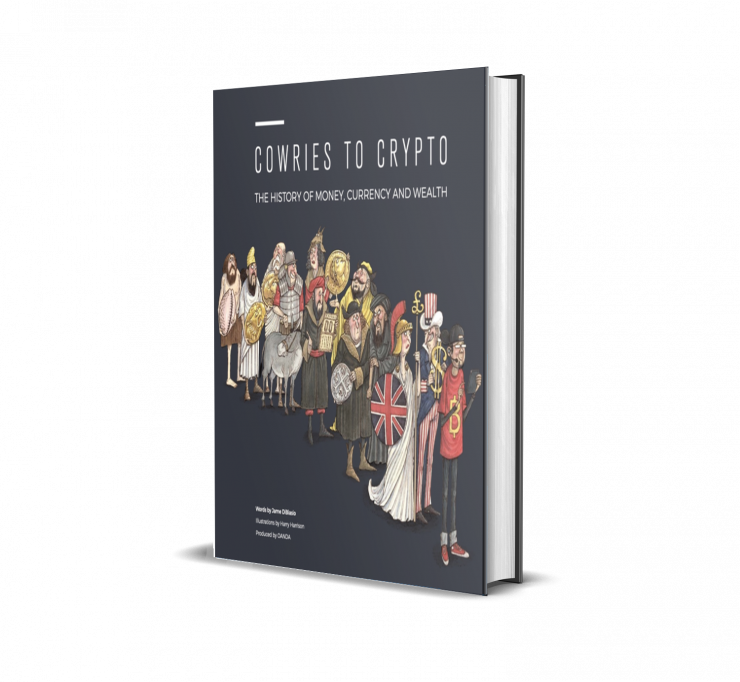 Book cover for Cowries To Crypto: The History of Money, Currency and Wealth
