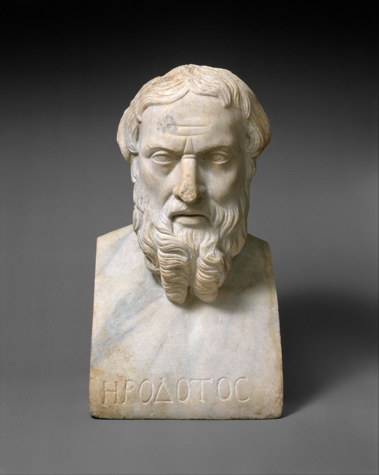 Portrait bust of Herodotos