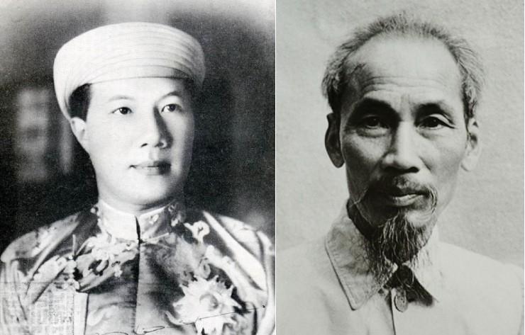 Emperor Bao Dai and Ho Chi Minh