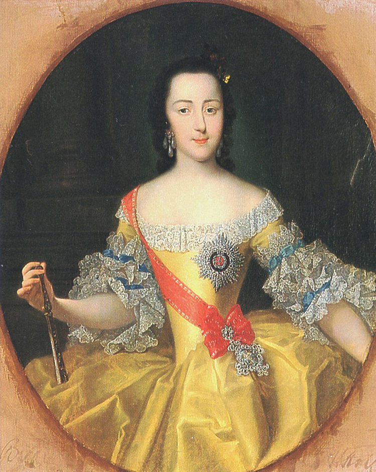 catherine the great empress grand duchess young woman portrait