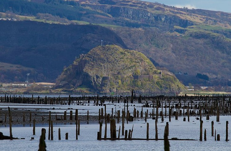 Dumbarton Rock - viewed from Port Glasgow_Scotland