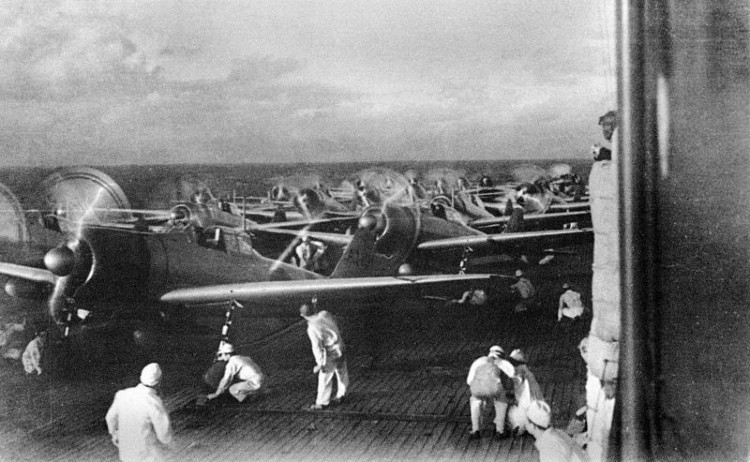 Second Wave Preparations on Aircraft carrier Akagi - Pearl Harbour