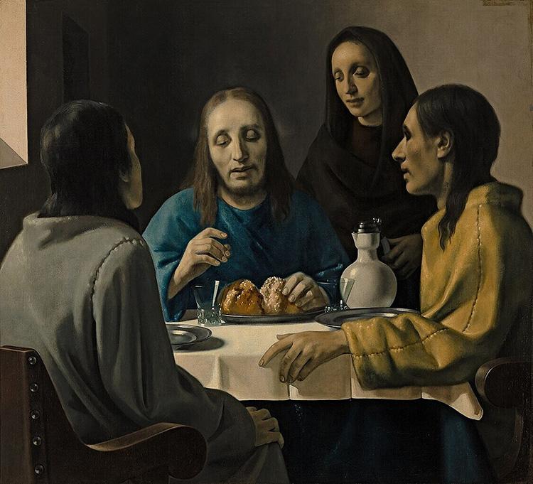 vermeer fake forgery supper at emmaus christ dutch golden age nazi