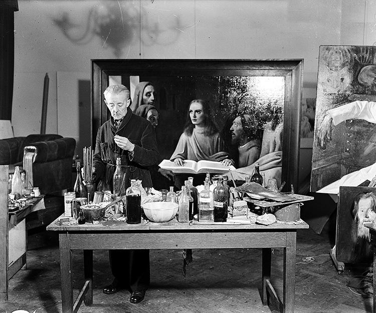 han van meegeren vermeer forgery artist studio forgery fraud fake