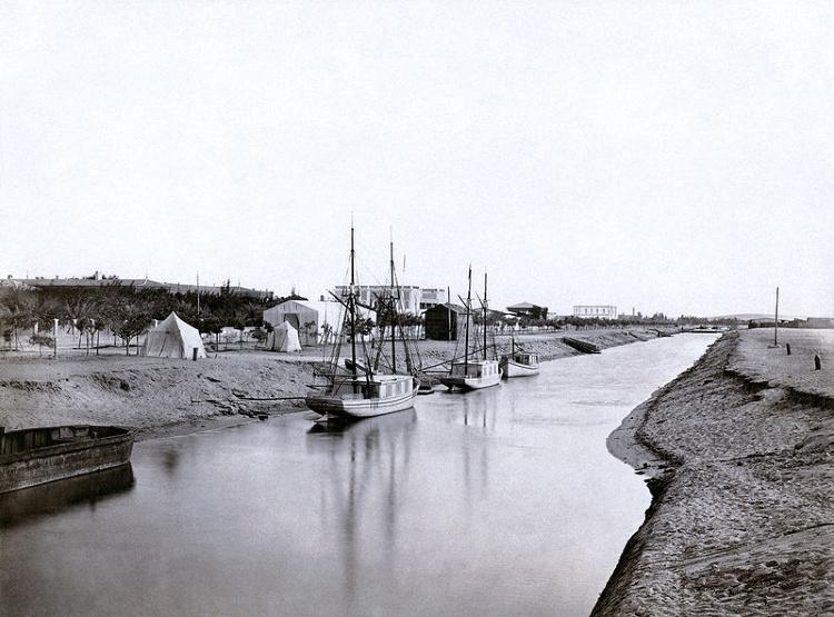 Ismailia segment of Suez Canal - Nov 1862