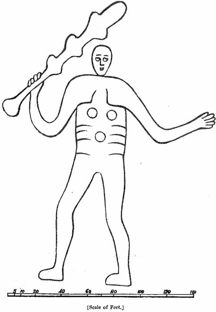 cerne abbas giant drawin
